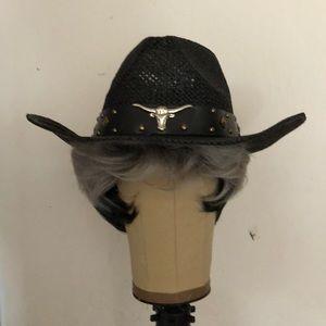 Western style straw hat female